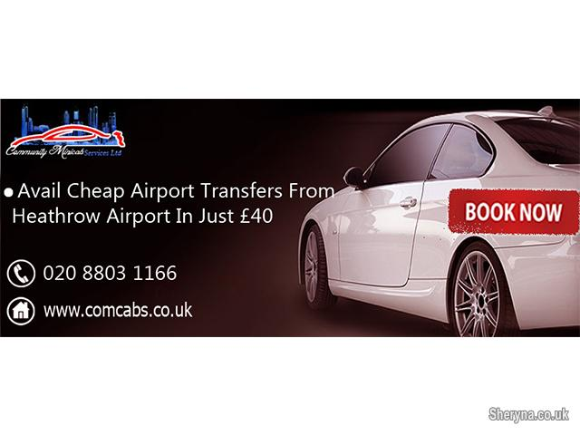 Picture of Get discount on airport transfers from Heathrow airport in £40 o